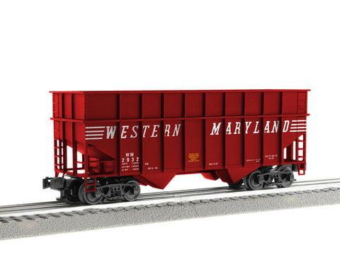 Lionel 3-17320 - ACF 3-Bay Woodchip Hoppers - Western Maryland (6-Car)