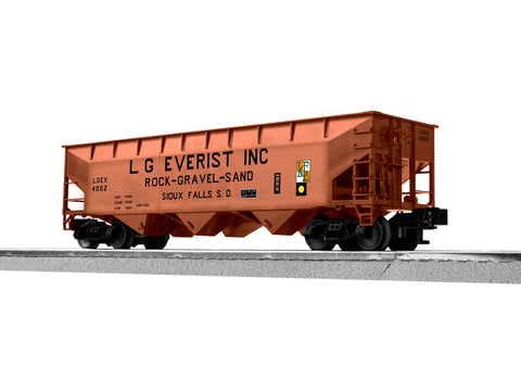 "Lionel 3-18150 - LionScale - AAR 3-Bay Hopper ""LG Everist"" (6-Car)"