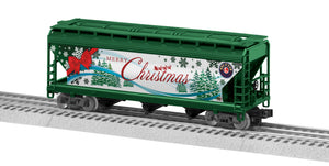 "Lionel 3-18703 - LionScale - 3-Bay Hopper ""Merry Christmas"""
