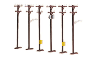MTH 30-1088 - Telephone Pole Set (6 Piece)