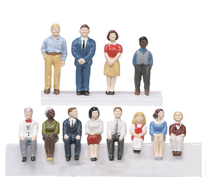 MTH 30-11029 - Passenger Figures - Figure Set #2 (12 Piece)