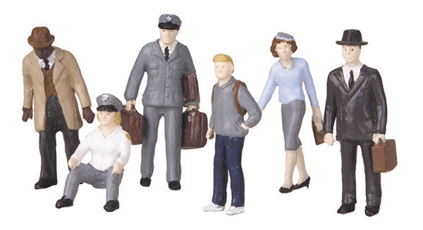 MTH 30-11048 - Bus Station Employees & Patrons - Figure Set #4 (6-Piece)