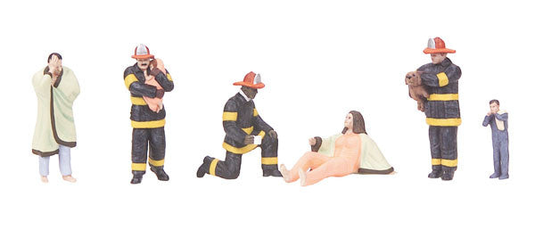 MTH 30-11060 - Fire Scene - Figure Set #8 (6-Piece)