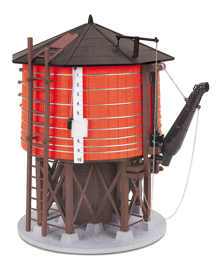 MTH 30-11086 - Operating Water Tower (Red w/ Black Roof)
