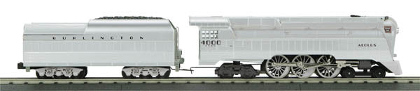 "MTH 30-1694-1 - 4-6-4 Imperial Streamlined Hudson Steam Engine ""Chicago, Burlington & Quincy"" w/ PS3"
