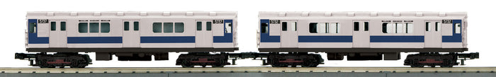 MTH 30-20626-3 Metropolitan Transportation Authority R-12 2-Car Subway Add-On Non Powered Set