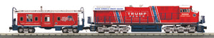 "MTH 30-20799-1 - ES44AC Imperial Diesel & Caboose Set ""Donald J. Trump"" w/ PS3"