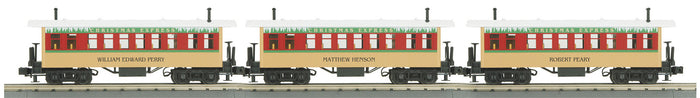 "MTH 30-6443 - Overton Passenger Coach Set ""Christmas"" (3-Car)"