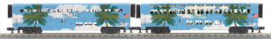 "MTH 30-6548 - O-31 SuperLiner Coach/Lounge Set ""Florida Tri-Rail"" (2-Car)"