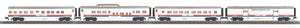 "MTH 30-68046 - 60' Streamlined Passenger Set ""American Freedom"" (4-Car)"