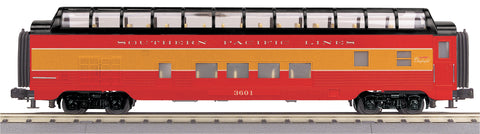 "MTH 30-68073 - 60' Streamlined Full-Length Vista Dome Car ""Southern Pacific Lines"""