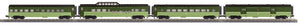 MTH 30-68102 Northern Pacific 4-Car 60' Streamlined Passenger Set