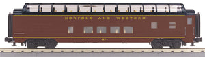 MTH 30-68117 Norfolk & Western 60' Streamlined Full-Length Vista Dome Car