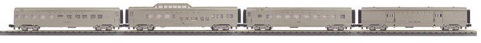 MTH 30-68212 Santa Fe 4-Car 60' Streamlined Passenger Set - Plated