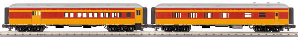 "MTH 30-69225 - 60' Madison Combo/Diner Set ""Milwaukee Road"" (2-Car)"