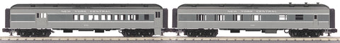 "MTH 30-69298 - 60' Madison Combo/Diner Set ""New York Central"" (2-Car)"