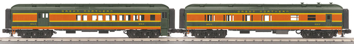 MTH 30-69319 Great Northern 2-Car 60' Madison Combo/Diner Set