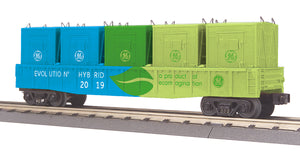 MTH 30-72199 G.E. Evolution Gondola Car w/LCL Containers