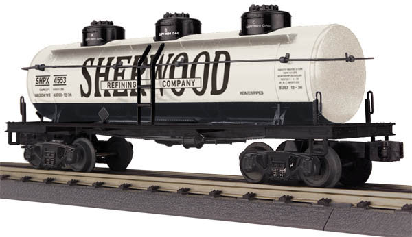 "MTH 30-73422 - 3-Dome Tank Car ""Sherwood Refining"""