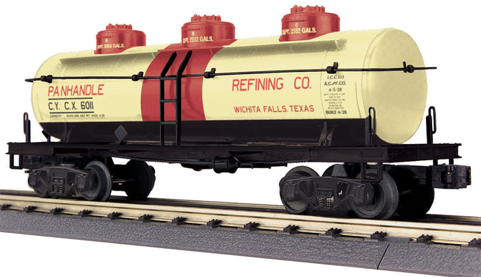 "MTH 30-73502 - 3-Dome Tank Car ""Panhandle Refining Company"""