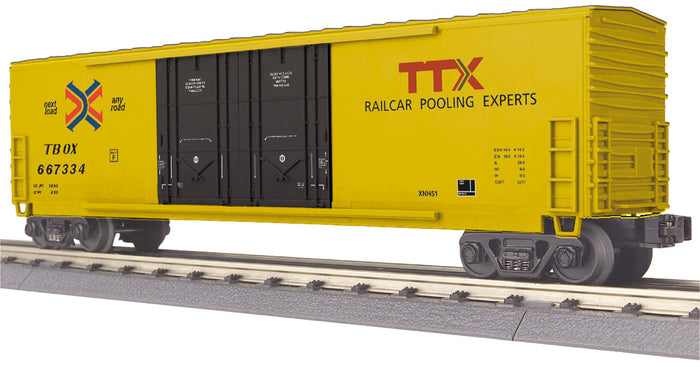 "MTH 30-74850 - 50' Double Door Plugged Boxcar ""TTX"""