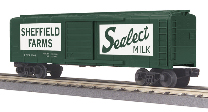 "MTH 30-74864 - Rounded Roof Box Car ""Seffield Farms"""