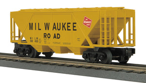 "MTH 30-75592 - H30A 3-Bay Covered Hopper Car ""Milwaukee Road"""