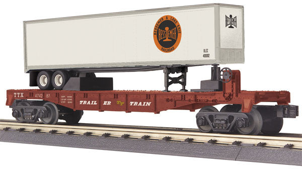 "MTH 30-76585 - Flat Car ""Bessemer & Lake Erie"" w/ 40' Trailer"