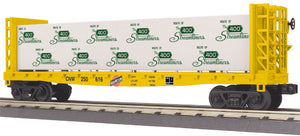 "MTH 30-76653 - Flat Car ""Chicago & North Western"" w/ Bulkheads & Lumber Load"