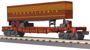 "MTH 30-76665 - Flat Car ""Pennsylvania"" w/ 40' Trailer"