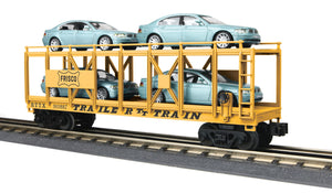 "MTH 30-76679 - Auto Carrier Flat Car ""Frisco"" w/ (4) BMW 7-Series Sedan"