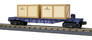 "MTH 30-76705 - Flat Car ""NASA"" w/ (2) Crates"