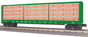 MTH 30-76748 Burlington Northern Center I-Beam Flat Car