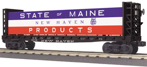 "MTH 30-76753 - Flat Car ""State of Maine"" w/Bulkheads & Lumber Load"