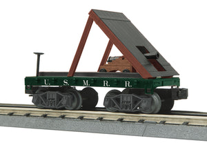 MTH 30-76760 U.S. Military  Railroad Flat Car (19th Century) w/Cannon