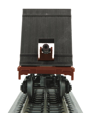 MTH 30-76762 Pennsylvania Flat Car (19th Century) w/Cannon