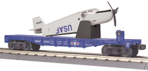 MTH 30-76764 U.S. Air Force Flat Car w/Airplane