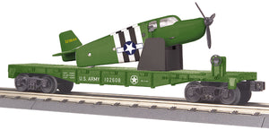 MTH 30-76765 U.S. Army Flat Car w/Airplane