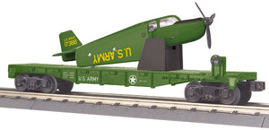 MTH 30-76767 U.S. Army Flat Car w/Airplane