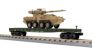 "MTH 30-76836 - Flat Car ""U.S. Army"" w/ (1) Stryker Vehicle"