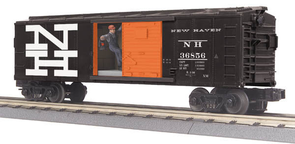 "MTH 30-79473 - Operating Box Car ""New Haven"" w/ Signal Man"