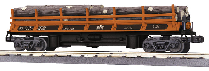 "MTH 30-79588 - Operating Log Dump Car ""Bessemer & Lake Erie"""