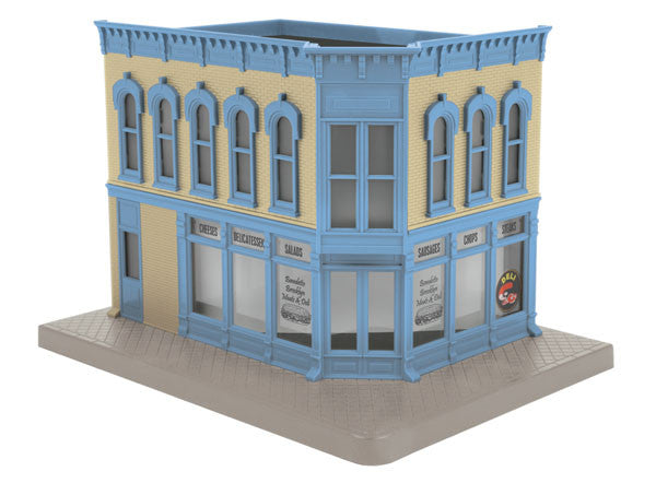 "MTH 30-90476 - Opposite Corner Building ""Benedetto Brooklyn Meat's & Deli"" w/ Blinking Sign"