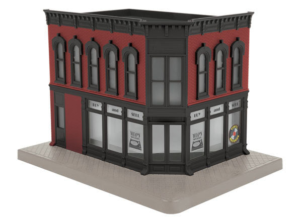 "MTH 30-90477 - Opposite Corner Building ""Today's Vinyl Records"" w/ Blinking Sign"