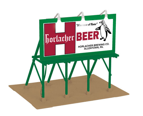 "MTH 30-90479 - Lighted Billboard ""Horlacher's Brewing Company"""