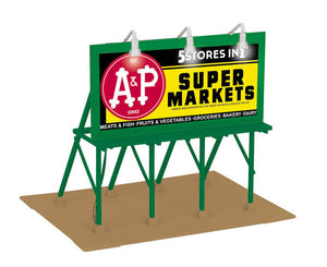 "MTH 30-90494 - Lighted Billboard ""A&P Groceries"""