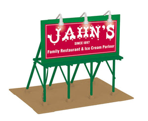 "MTH 30-90495 - Lighted Billboard ""Jahn's Ice Cream"""