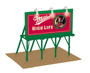 "MTH 30-90496 - Lighted Billboard ""Miller High Life"""