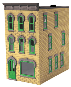 MTH 30-90506 - 3-Story Town House Cream w/ Gray Trim