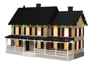 MTH 30-90519 - #4 Country House w/ Operating Christmas Lights